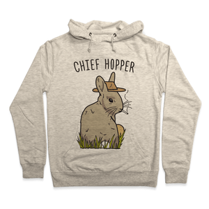 Chief Hopper Parody Hoodie - Heathered Oatmeal