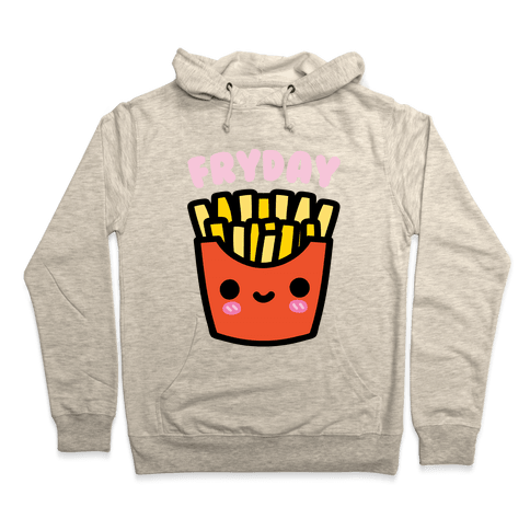 Fryday (French Fries) Hoodie - Heathered Oatmeal