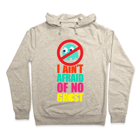 I Ain't Afraid Of No Ghost (Pac-Man) Hoodie - Heathered Oatmeal