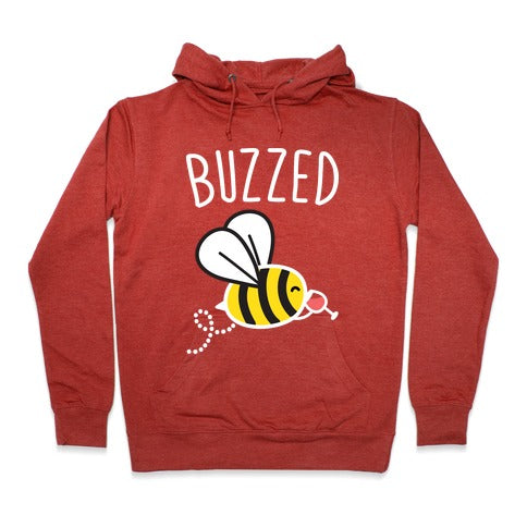 Buzzed Wine Bee Hoodie - Heathered Red