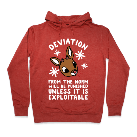 Deviation Rudolf Hoodie - Heathered Red