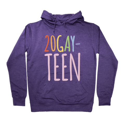 20-Gay-Teen Hoodie - Purple