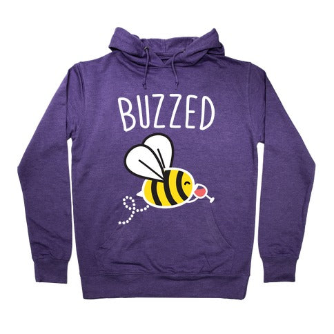Buzzed Wine Bee Hoodie - Purple