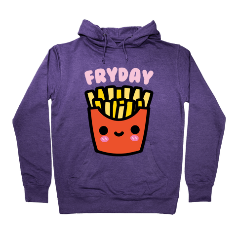 Fryday (French Fries) Hoodie - Purple