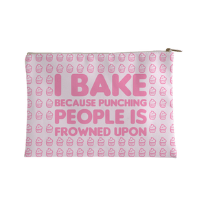 I Bake Because Punching People Is Frowned Upon Accessory Bag