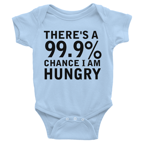 There's A 99.9% Chance I Am Hungry Infants Onesie - Baby Blue