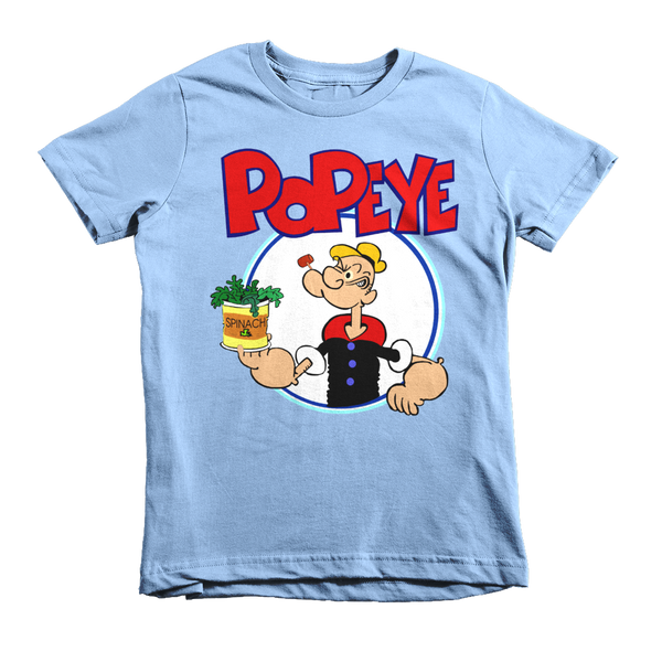 Popeye The Sailorman Kids T-Shirt - Baby Blue