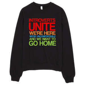 Introverts Unite Sweatshirt - Black