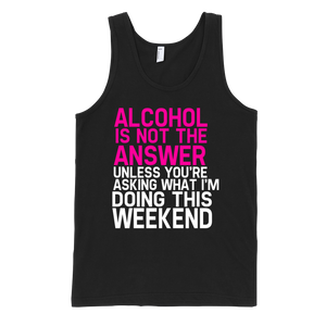 Alcohol Is Not The Answer Tank Top - Black