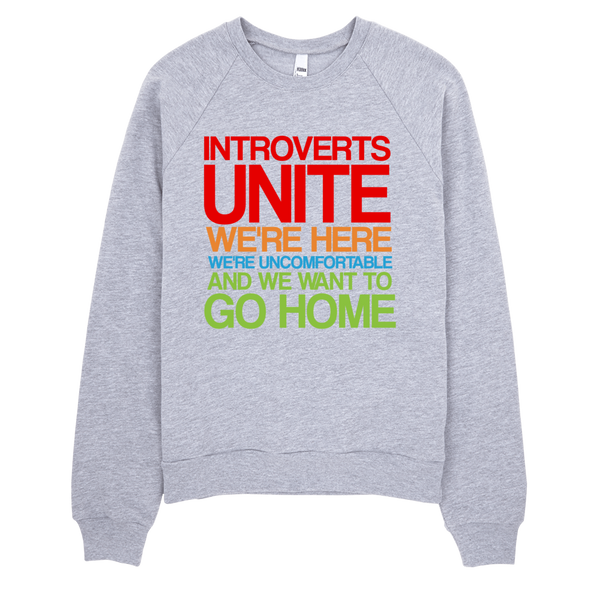 Introverts Unite Sweatshirt - Gray