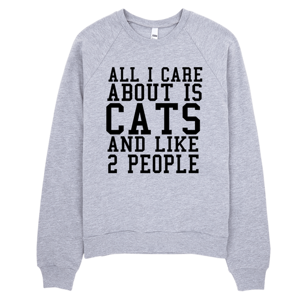 All I Care About Is Cats And Like 2 People Sweatshirt - Gray