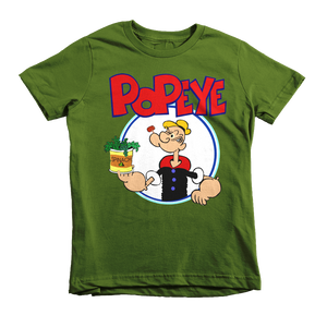 Popeye The Sailorman Kids T-Shirt - Olive