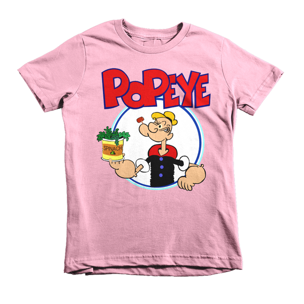 Popeye The Sailorman Kids T-Shirt - Pink