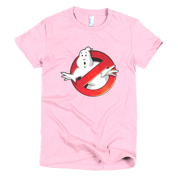 Ghostbuster Womens T-Shirt - Pink