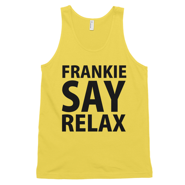 Frankie Say Relax Tank Top - Yellow