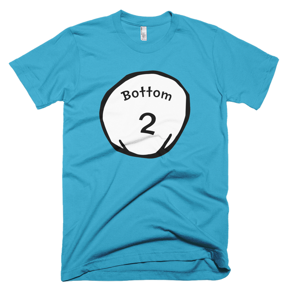 Bottom 2 (Thing 1 & 2 Theme) T-Shirt - Turquoise