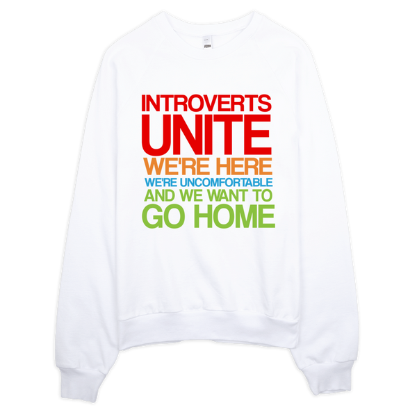 Introverts Unite Sweatshirt - White