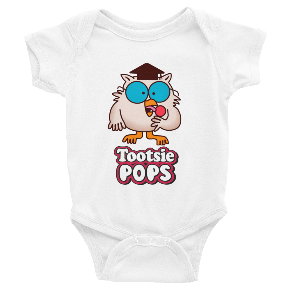 3c47bea8 ... Pink · Mr. Owl Tootsie Roll Pop Infants Onesie - White ...