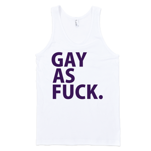 Gay As Fuck (Neon Purple) Tank Top - White
