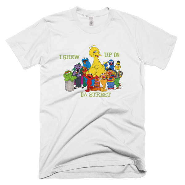 Sesame Street I Grew Up On Da Street T-Shirt - White