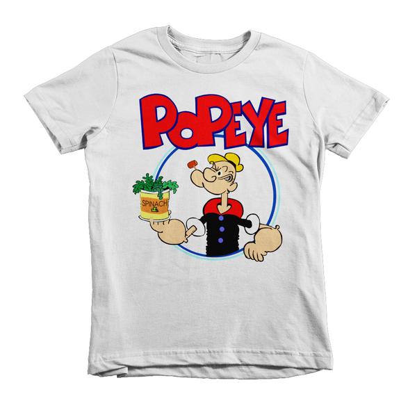 Popeye The Sailorman Kids T-Shirt - White