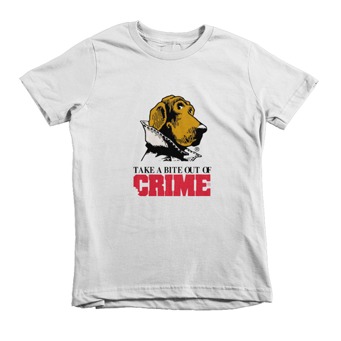 Scruff McGruff Take A Bite Out Of Crime Kids T-Shirt - White