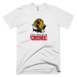 Scruff McGruff Take A Bite Out Of Crime T-Shirt - White