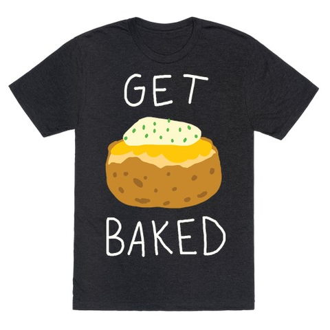 Get Baked T-Shirt - Heathered Black