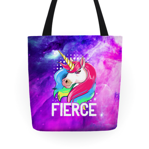 Fierce Unicorn Tote Bag