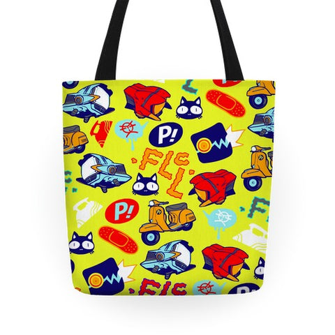 FLCL Anime Pattern Tote Bag