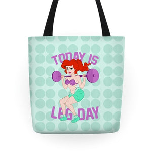 Today Is Leg Day Tote Bag