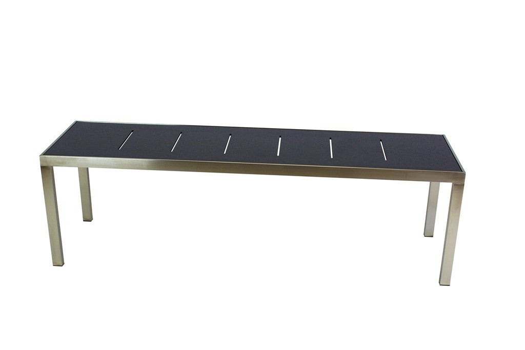 Marine Bench Charcoal Grey