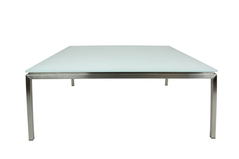 Lilia Coffee Table Square Sapphire White Matt Glass
