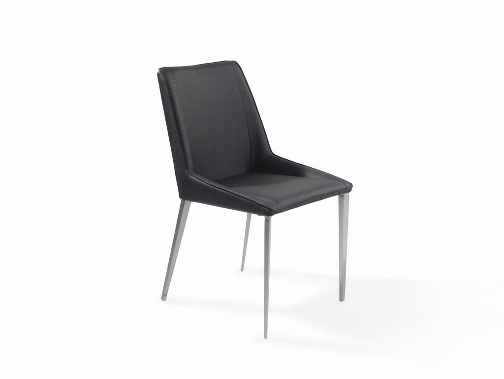 Modern Chair S/S Brushed PU Black