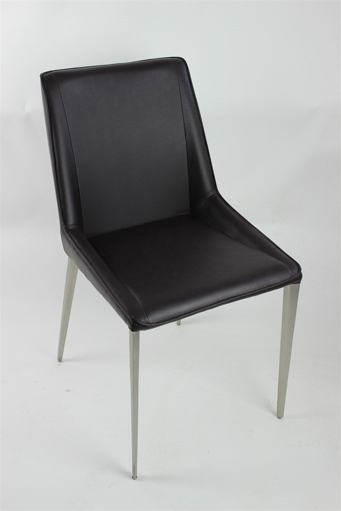 Modern Chair S/S Brushed PU Brown