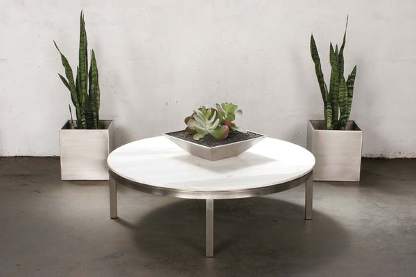 Lilia Coffee Table White Marble Round