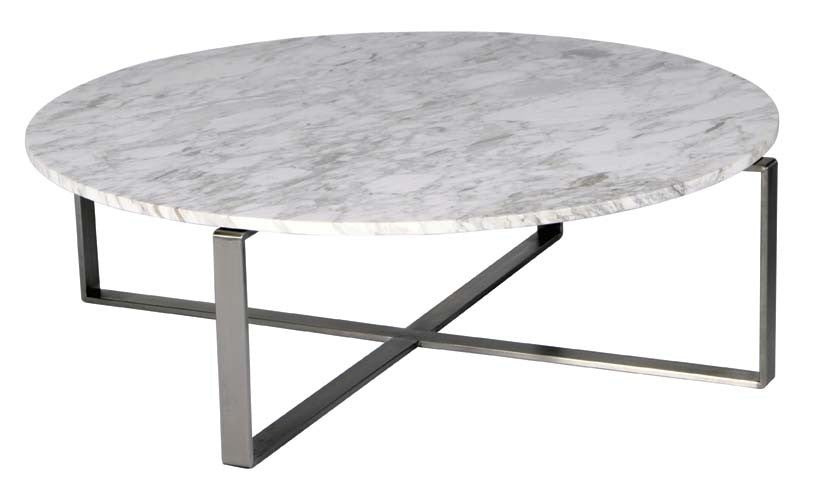 Lilia Coffee Table Criss Cross White Marble