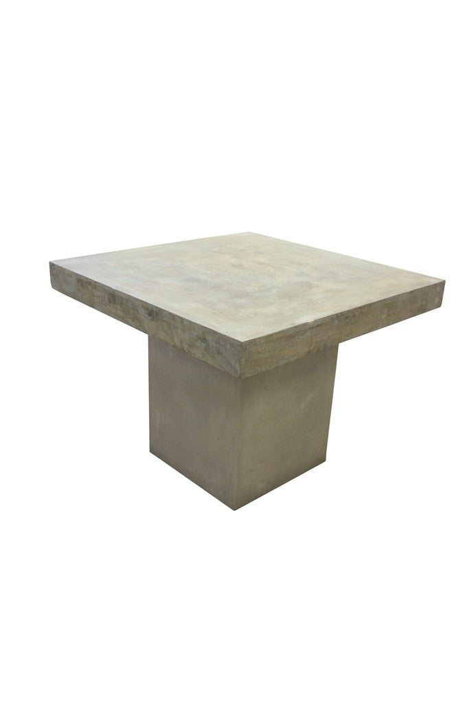 Peninsula Square Dining Table-Sand Cement/Fibreglass