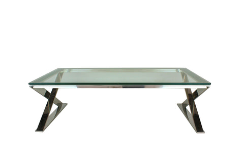 Lyn Coffee Table Polish Clear Glass - Flush
