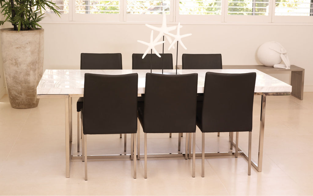 Keng Dining Table White Marble 240cm