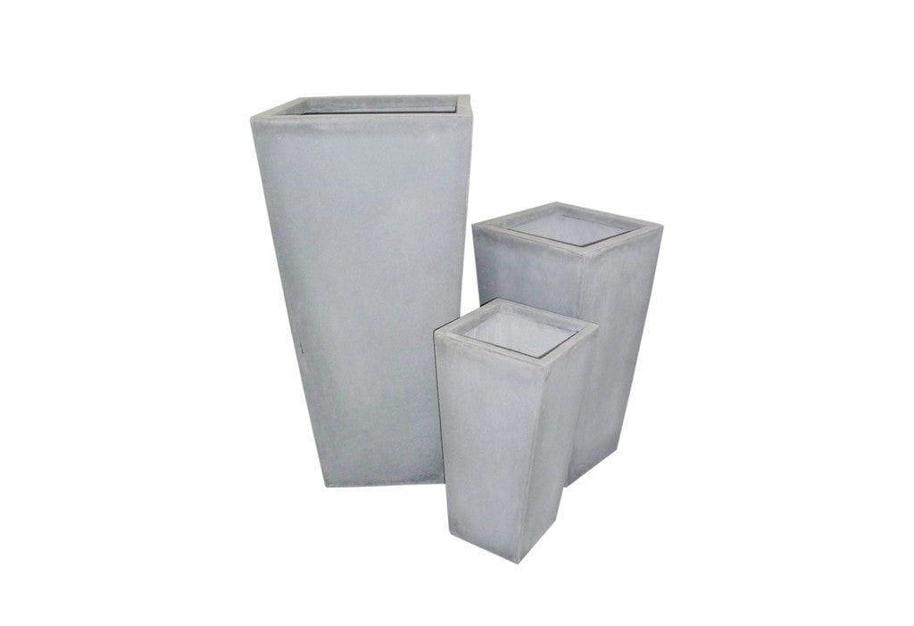 3 Set Tapered Pots Grey