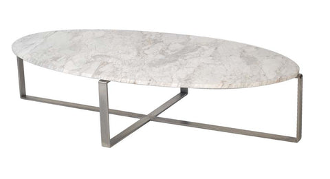 Lilia Coffee Table White Oval