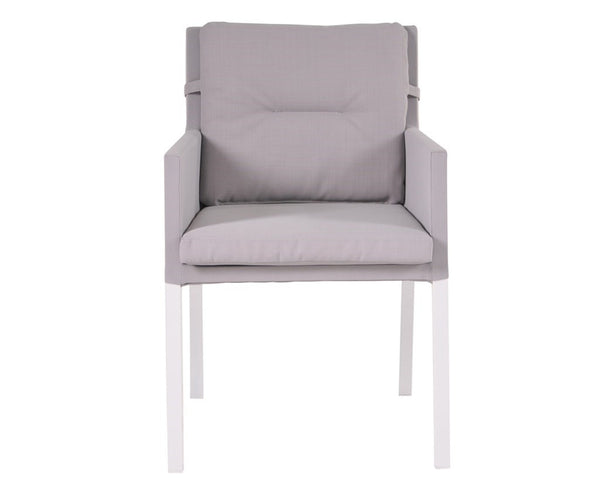 Caribean Chairs Mouse Grey-White Legs