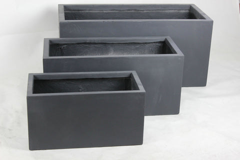 3 Set Rectangle Dark Grey