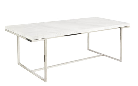 Keng Dining Table White Marble 210cm