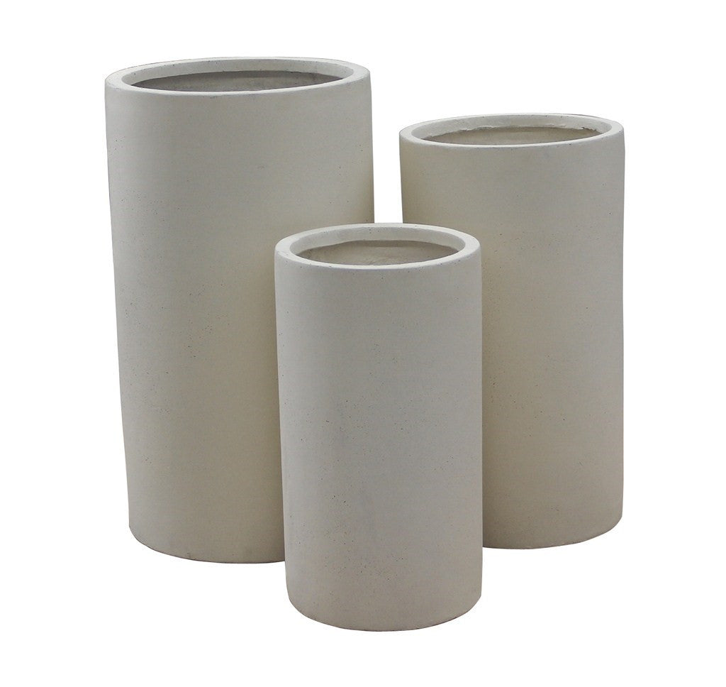 3 Set Cylinder Pots Cream