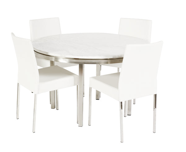 Lilia Dining Table White Marble Round