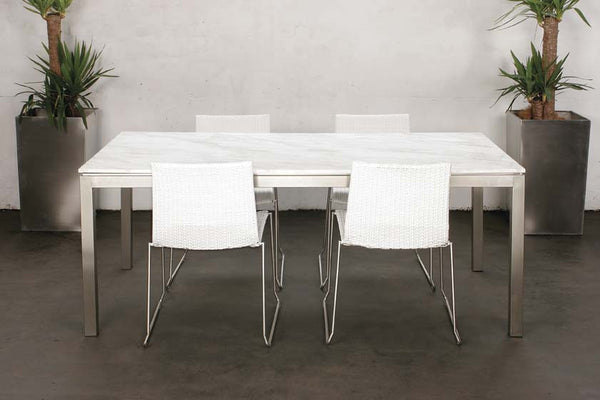 Lilia Dining Table White Marble