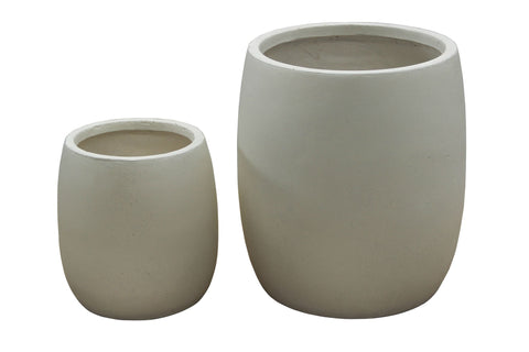 2 Set Round Pots Cream