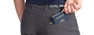 hidden zippered passport pocket